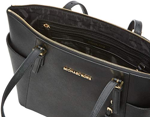 b3d42e5fd300 MICHAEL Michael Kors Women s Jet Set Item East West Trapeze Tote-Black
