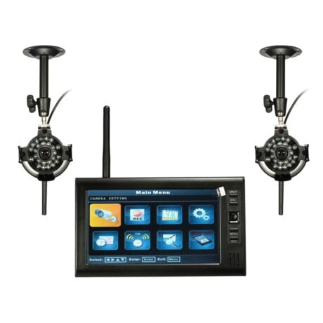 7 inch LDC Monitor DVR met 2 Wireless CCTV Camera Motion Detect Home Security System