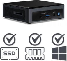 Intel NUC Compleet PC | Intel Core i5 / 10210U | 32 GB DDR4 | 480 GB SSD | HDMI | USB-C | Windows 10 Pro
