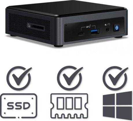 Intel NUC Compleet PC | Intel Core i5 / 10210U | 64 GB DDR4 | 480 GB SSD | HDMI | USB-C | Windows 10 Pro