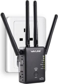 WiFi Versterker - WiFi Repeater 866Mbps Router Access point Wireless Range Extender / Wavlink AC1200